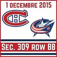 ***AU COST*** Canadiens vs Blue Jackets - BLANCS BB