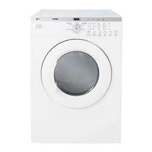 "LG TROOM DLE2514W + 7.0"" Cubic Feet Front Load Dryer Machine"