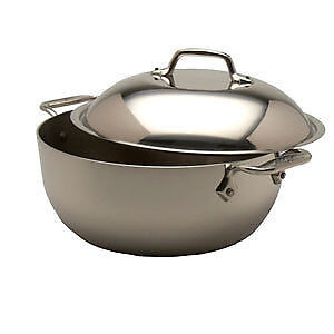 All-Clad d5 Stainless-Steel Dutch Oven with Domed Lid, 5.5-Qt