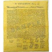 Declaration of Independence Parchment