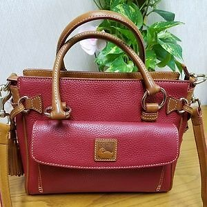 Authentic Dooney and Bourke all Leather Crossbody Bag purse tote