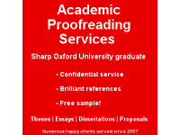 Thesis proofreading service offered by experienced Oxford graduate