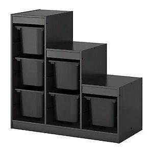 ikea storage boxes ebay. Black Bedroom Furniture Sets. Home Design Ideas