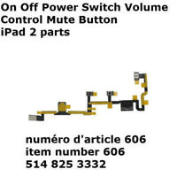 On Off Power Switch Volume Control Mute Button iPad 2 parts