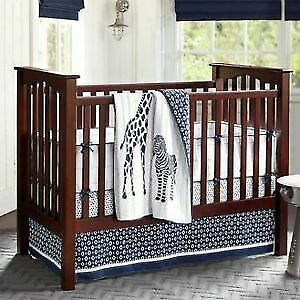"Pottery barn ""Kendall"" crib and organic infant/toddler mattress"