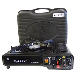 GREAT PORTABLE BUTANE GAS STOVE -  BURNER & PROTECTOR CARRY CASE