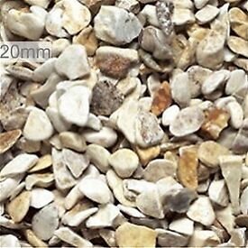 20 mm cotters gold garden and driveway chipsgravel