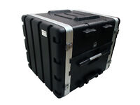 ABS Rack Case 8U [flight case] (similar to one in pic) + with extra slide out metal tray
