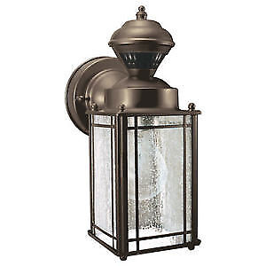 Heath Zenith 150 Degree Shaker Cove Lantern with Seeded Glass -