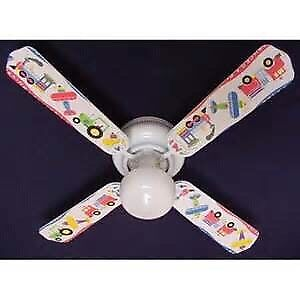 Transportation theme ceiling fan for boys room/playroom
