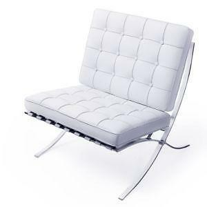 Barcelona Chair White barcelona chair | ebay