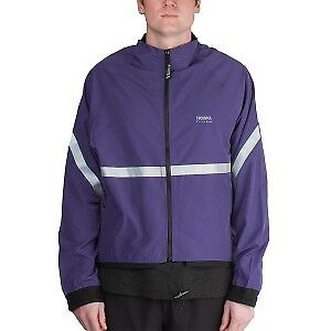 RUNNING ROOM UNISEX REFLECTIVE JACKET - purple MED OBO