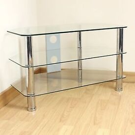 3 tier glass television table