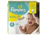 Pampers New Baby nappies size 3