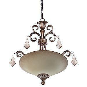 NEW Artcraft AC1463 3 Light Ceiling Fixture from the Vienna Collection in Vienna Bronze