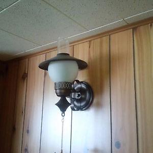 Set of 4 midcentury wall lights