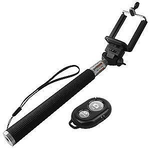 "YOBI 38"" SELFIE STICK W/BLUETOOTH REMOTE (BLACK)"