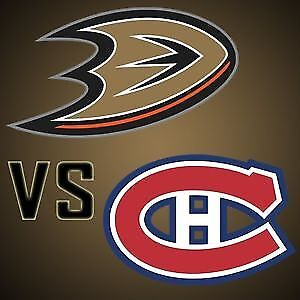 (2X2) BILLET TICKET CANADIENS ANAHEIM DUCK CENTER 302A 303A GRIS