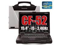 Panasonic Cf-52 Toughbook Laptop 8Gb 250 GB Windows 10 32/64 Bit Rugged.