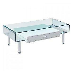 glass table with coffee bent azzuro tables top