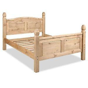 King size bed frames ebay for Wood bed frames for king size beds