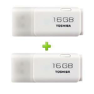 Toshiba Hayabusa 16 GB Pen Drive (WHITE) (Combo of 2) {SMP} By Ebay @ Rs.650