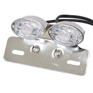 LED CHROME MOTORBIKE TAIL/BRAKE/INDICATOR/NUMBER PLATE REAR LIGHT MOTORCYCLE