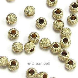 70 Round Stardust Seamless Spacer 14Kgold filled Bead 2mm size