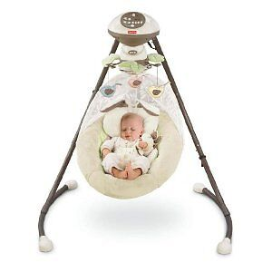 Baby swing with mobile and sounds