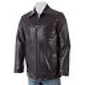 Kenneth Cole Reaction Men's Leather Car Coat