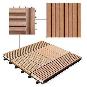 balkon holz holzfliesen ebay. Black Bedroom Furniture Sets. Home Design Ideas