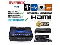 ✫2017★M9S Digital Freesat PVR Full HD TV SAT RECEIVER★OPENBOX/OVERBOX M9S★12 Mths CHANNELS - £75