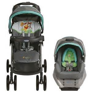 winnie the pooh stroller with  matching car seat