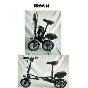 "Weekly Promotion!   14"" Aluminum alloy  Folding eBike ,FROG14, Black,$1099"