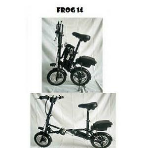 "Spring Promotion! High Quality14""  Folding eBike ,FROG14, Black,$1199 (was$1699)"