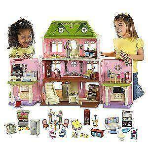 fisher price loving family grand dollhouse ebay. Black Bedroom Furniture Sets. Home Design Ideas