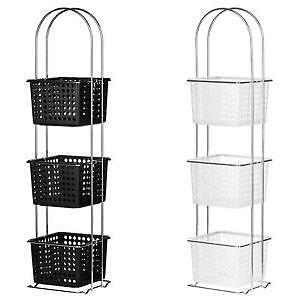Perfect New Port Free Standing Bathroom Storage Cabinet With Baskets