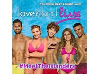 2x love island meet and greet back stage stickers and back stage show
