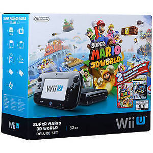 Super Mario 3D World Wii U bundle. 1 Pro Controller. 1 SSB Game