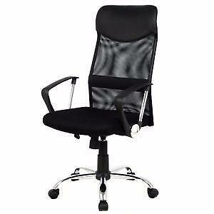 Mesh Office Chair with Arms - Fabric - Black (Brand New) SALE