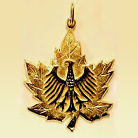 LOST: Maple Leaf Gold pendant featuring small/er Eagle - URGENT!