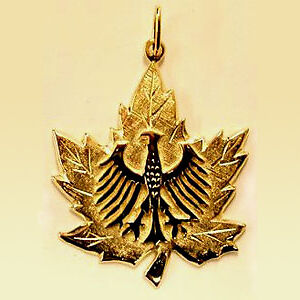 LOST: Maple Leaf Gold pendant featuring small/er Eagle - URGENT! Kitchener / Waterloo Kitchener Area image 1