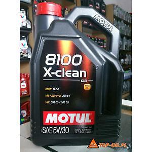 """Motul 8100 X-Clean 5W30 and 5W40 5L bottle, in stock"""""""