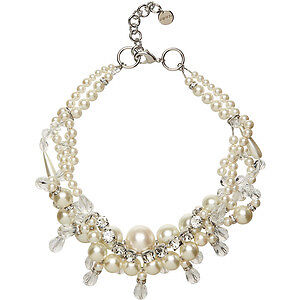 Mimco NECKLACE Mimco Stolen Treasure Crystal Neck pearls $329 bnwt dust bag