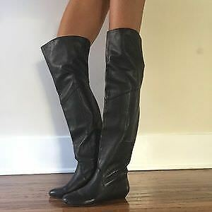 Women's black knee high fashion fall boots Size 5