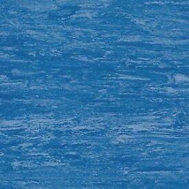 Hardwearing 2mm Vinyl Sheet Tanzanite Blue 2mx20m per Roll, More than 50% off