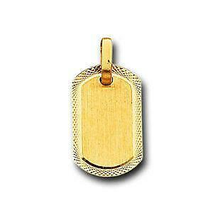 Gold dog tags jewelry watches ebay solid gold dog tag aloadofball Choice Image