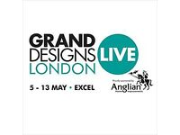 Grand Designs Live London / 2 Tickets Weekend Day