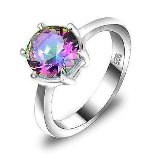 silver mystic ring white rings rnd gold sterling northern lights ct topaz overlay in