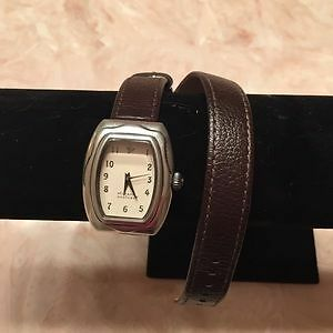 Retired Silpada Brown Leather wrap watch  T1896